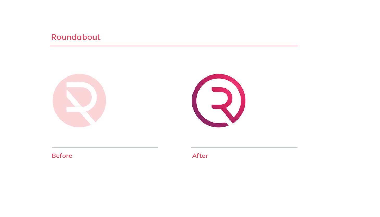 Roundabout Group before and after branding