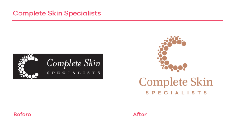 Complete Skin Specialists before and after branding