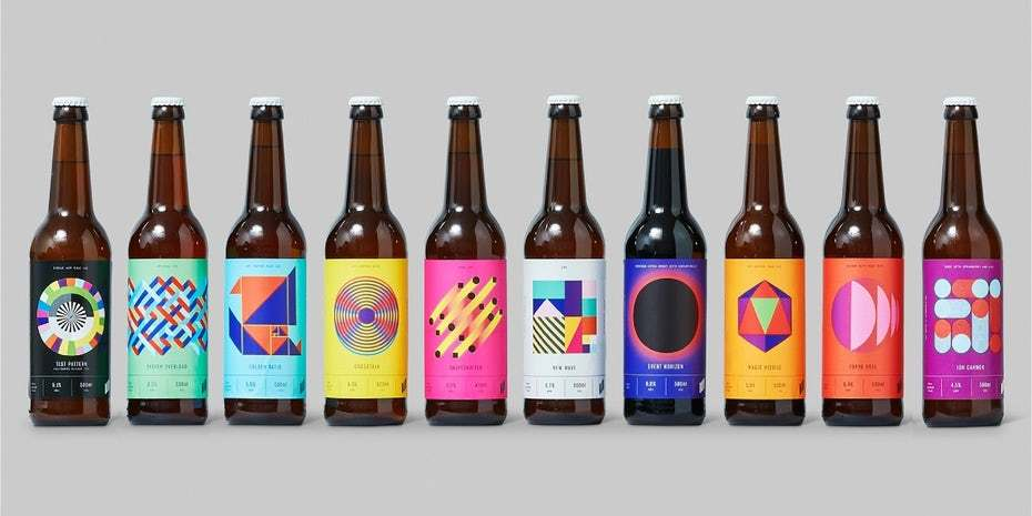 Halo Brewery's colour palette