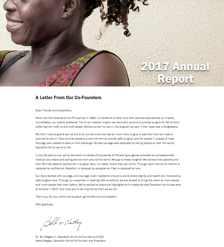Operation Smile Annual Report
